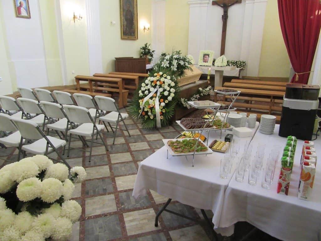 Pożegnanie w kaplicy
