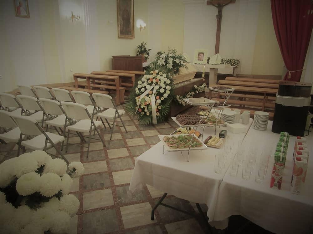 Kaplica podczas pożegnania